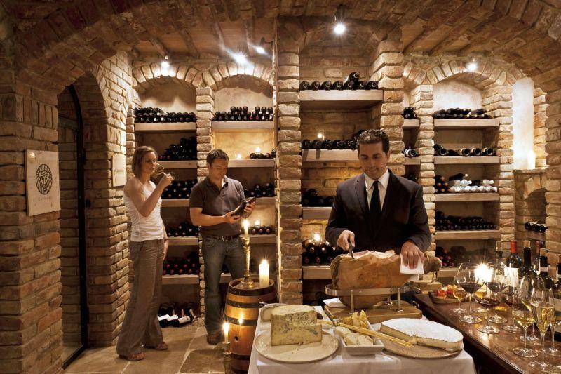 Borgo Santo Pietro hotel wine cellar