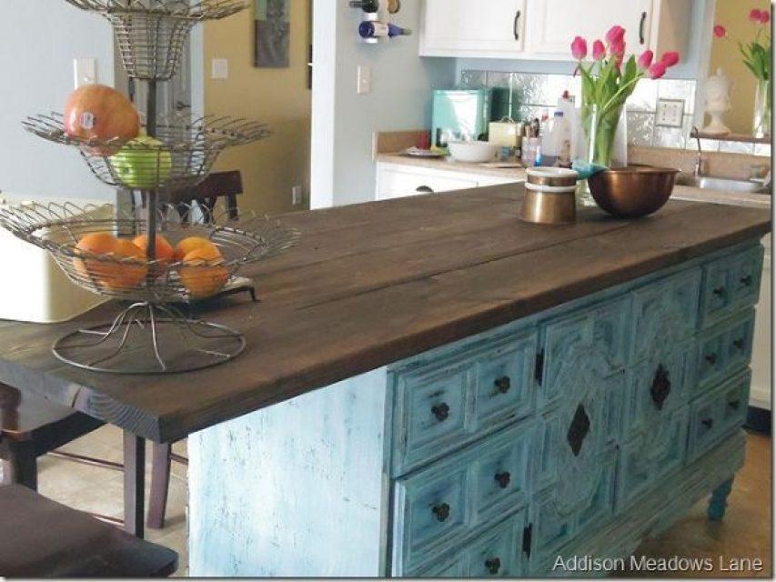 DIY Chest of Drawers Dresser Kitchen Island