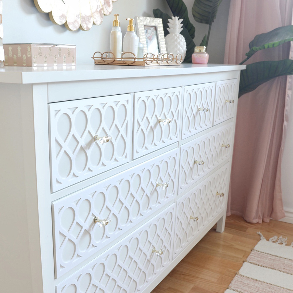 DIY Chest of Drawers Dresser Overlays