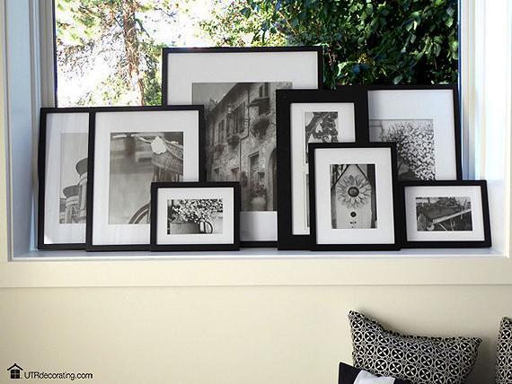 Family Photo Gallery window sill