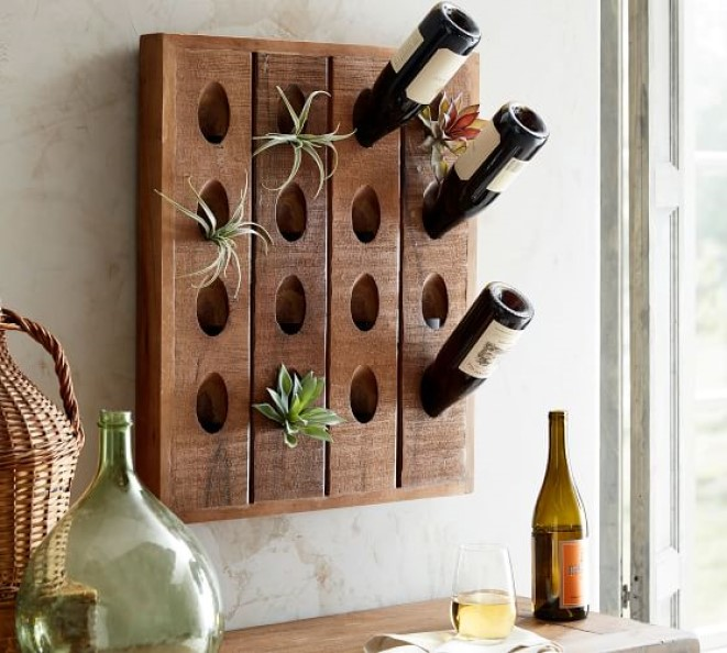 Make A Wine Rack A New Home For Your Succulents