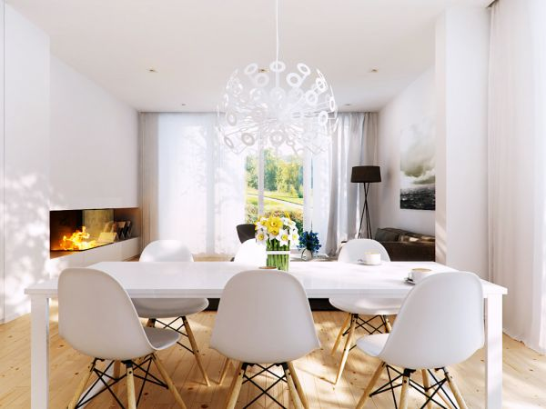 20 charming nordic dining d cor ideas for Dining room ideas eames