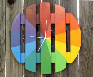 DIY rainbow clock