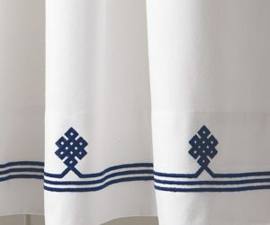 Navy Gobi Shower Curtain