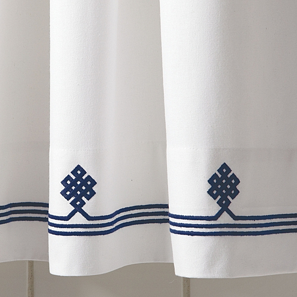 Wonderful Navy Gobi Shower Curtain