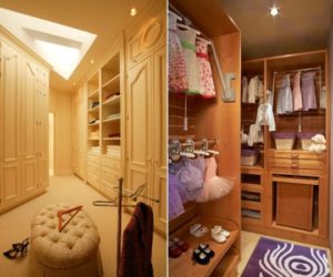 A girl's walk-in closet design ideas