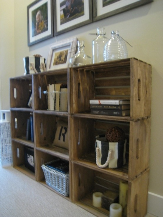 Wine crates Magazine Holder
