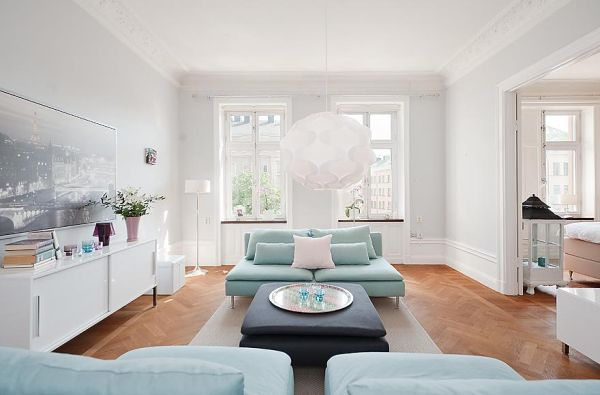 90 square meter apartment in stockholm for Living room 10 square meters