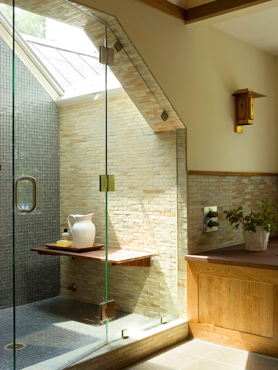 2 light filled shower - Shower Designs Ideas