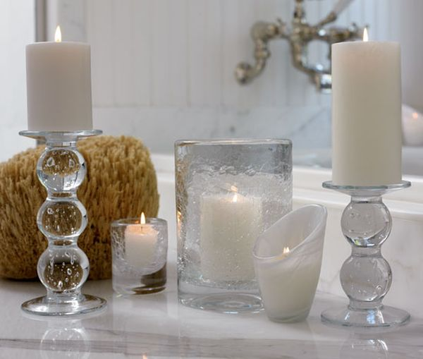 Decorate with candles in every room for Home decor accents
