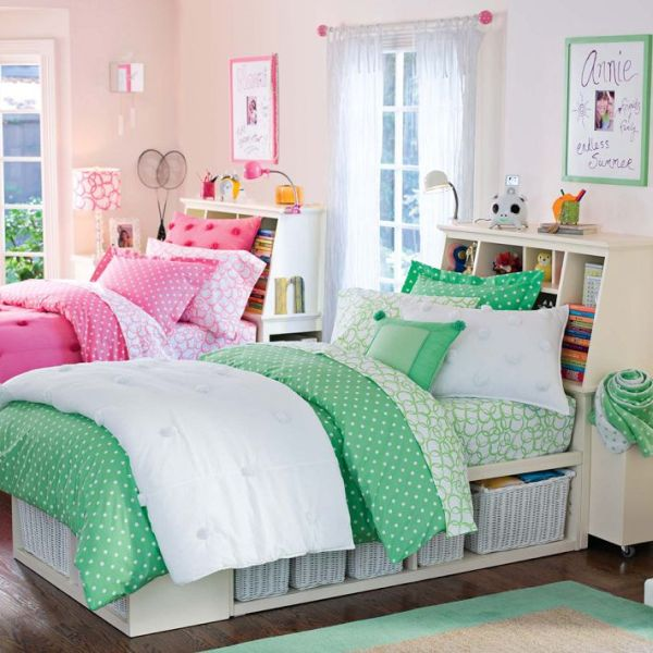 Shared Boys Bedroom Storage: Amazing Bed With Storage Headboard