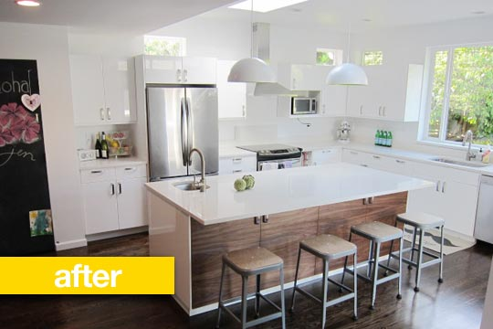Before And After Heejoo S Expanded And Renovated Kitchen