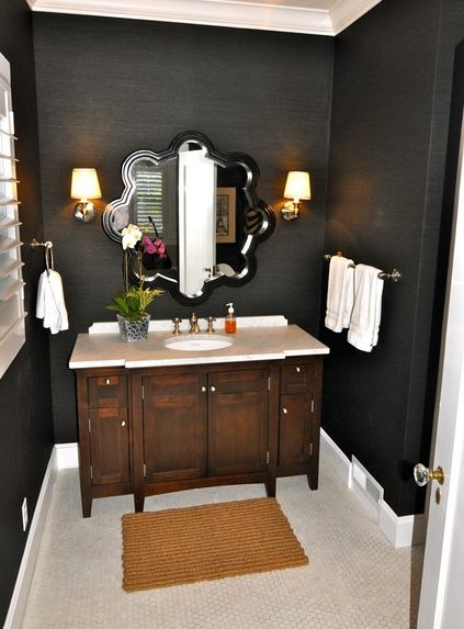 Chic Black Bathroom Interiors