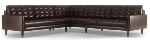 Brown Leather L Shaped Sofa - Fina-leather-sofa-by-athomeusa