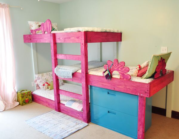Hand Crafted Triple Bunk Beds For The Kids