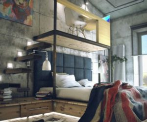 A loft with a functional, industrial-style interior