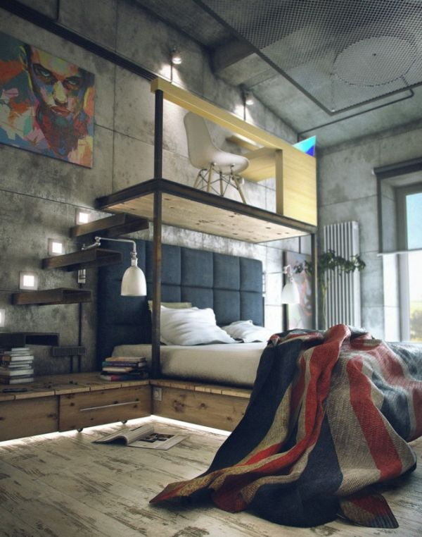 A Loft With A Functional Industrial Style Interior