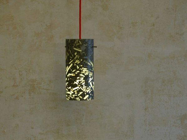 The glass and concrete Coretube pendant lamp