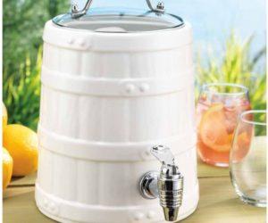 Ceramic Barrel Beverage Dispenser