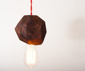 Solid Walnut Pendant Light