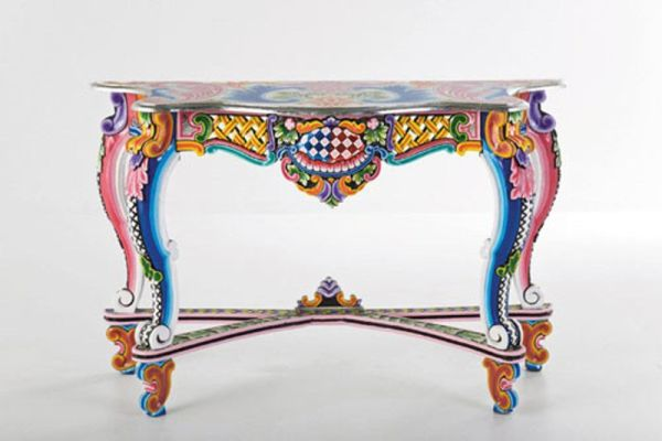 Colorful hand painted furniture by kare design for Meuble pop art
