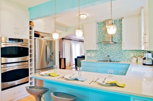 Awesome Colorful Kitchen.