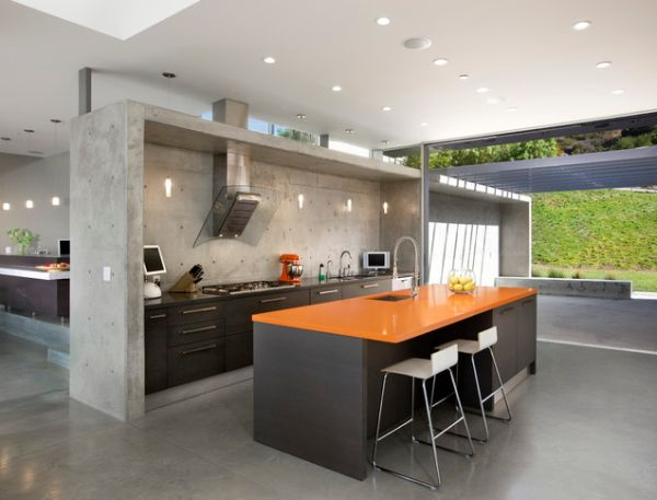 Polished Concrete Kitchen.
