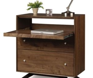 Walnut 2 Drawer Laptop Desk