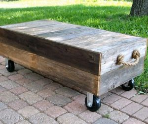 Simple DIY cart-style table