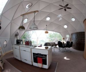 An eco-friendly vacation dome in Scotland