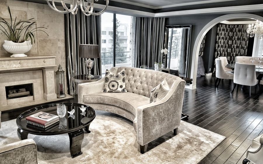 Interior design ideas for a glamorous living room Glamorous living room furniture