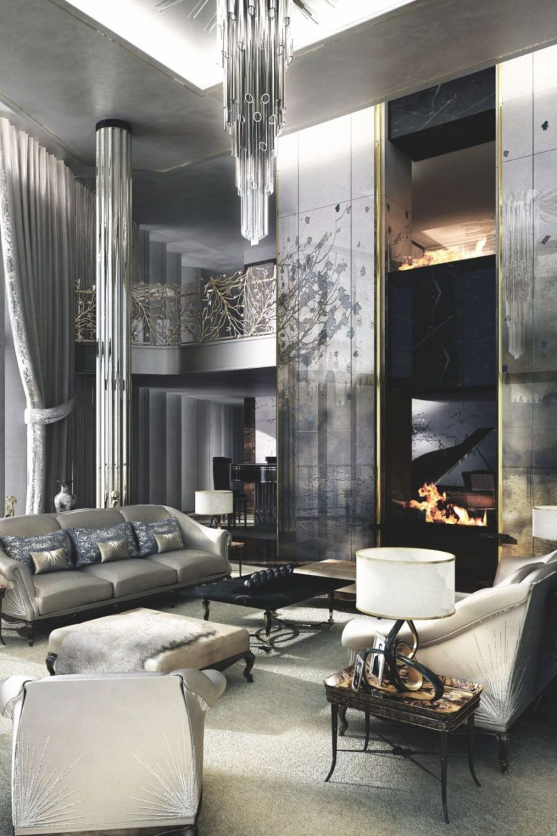 Interior Design Concept For A Glamorous Living Room