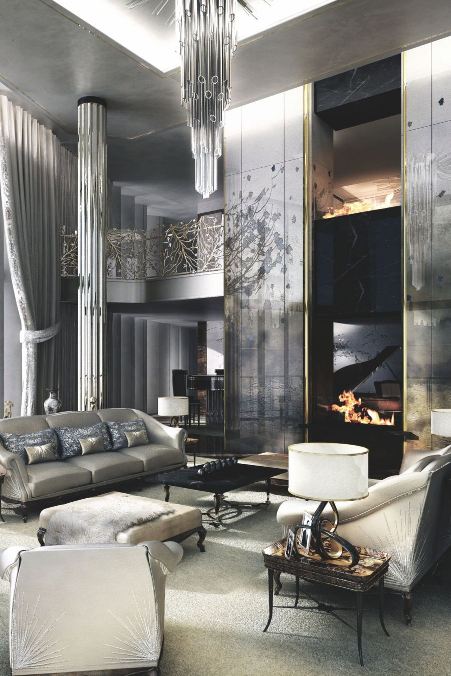 interior design ideas for a glamorous living room - Interior Designs Ideas