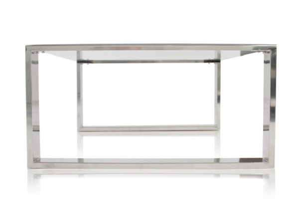 Glass Coffee Table With Chrome Base