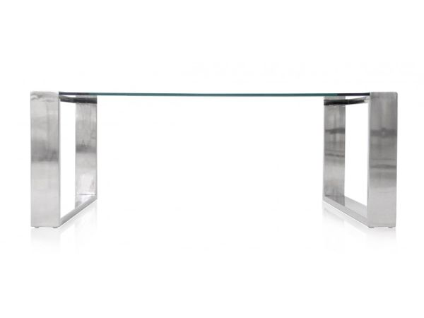 0b1383cae34ea Glass Coffee Table With Chrome Base