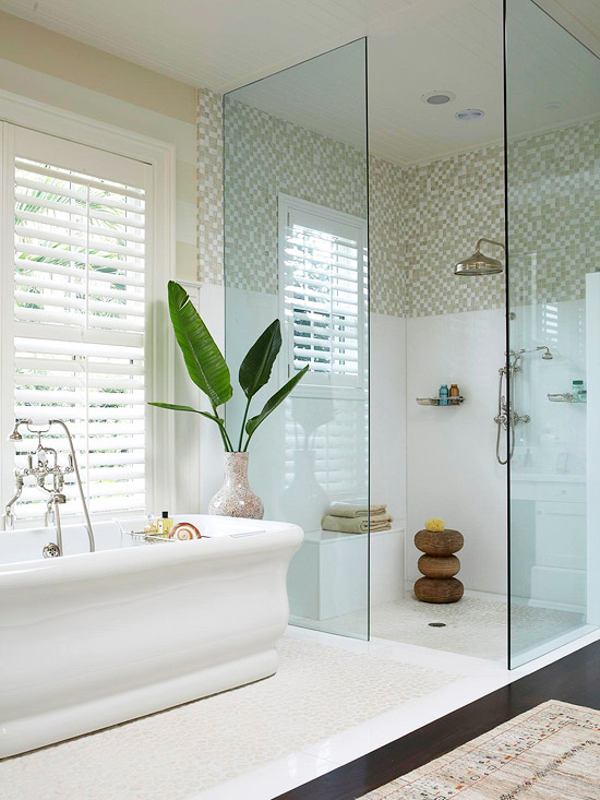 10 walk in shower design ideas that can put your bathroom for Huge walk in shower
