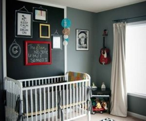 Colorful nursery décor with an artistic touch
