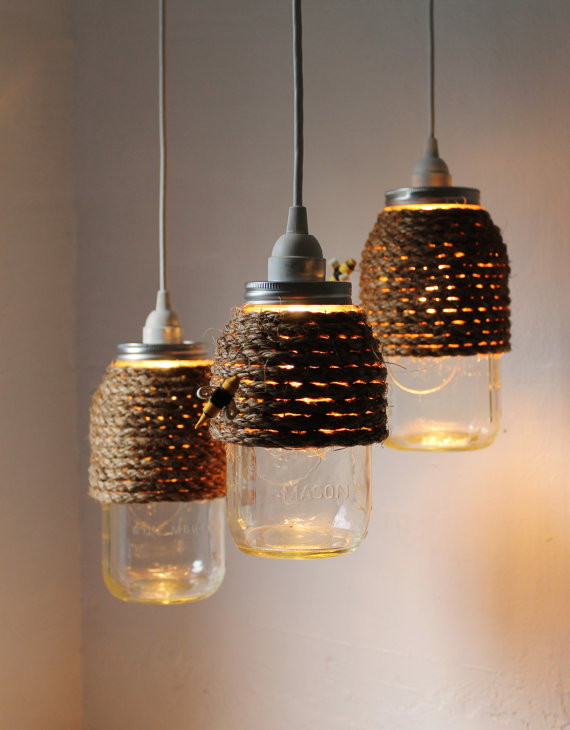 The hive jar pendant lamps