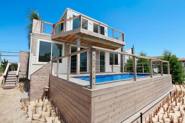 House Built Out Of Shipping Containers beach house built from recycled shipping containers