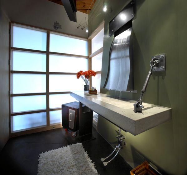 Elegant Bathroom And Living Room With An Industrial Touch Good Ideas