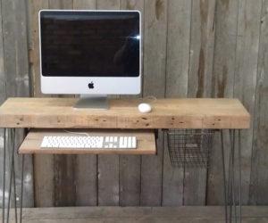 Modern Industrial Wooden Desk