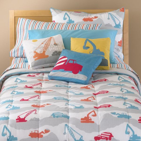 Construction Zone Bedding For Boys