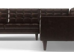 ... Brown Leather L Shaped Sofa