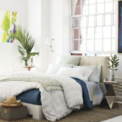 Unbuttoned, Grid Tufted Headboard With Geometric Detailing