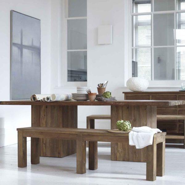 Teak Kitchen Table Solid teak megan dining table workwithnaturefo