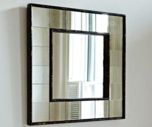 Antique Tiled Square Wall Mirror
