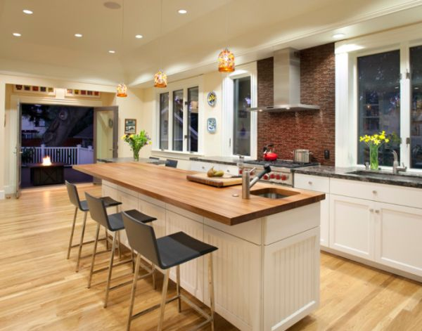 15 modern kitchen island designs we love for Small kitchen designs with island