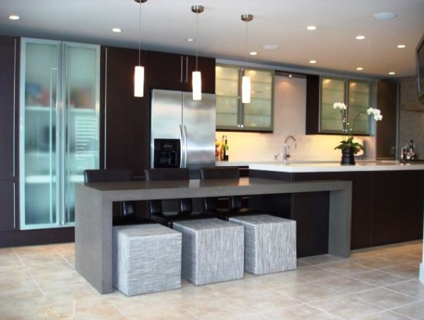 15 modern kitchen island designs we love for Modern kitchen designs with island