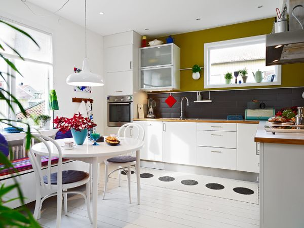 A very colorful nordic interior for Dynamic kitchen design interiors