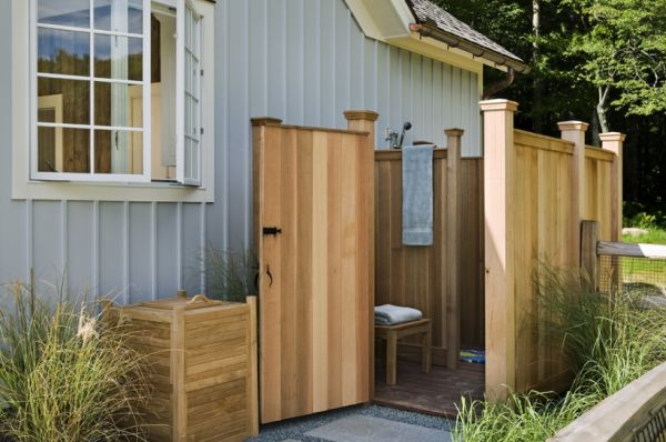 inspiring outdoor shower ideas. Black Bedroom Furniture Sets. Home Design Ideas